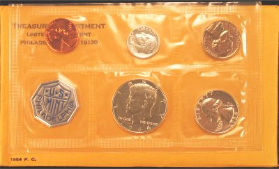 1964 Accented Hair Half Proof Set