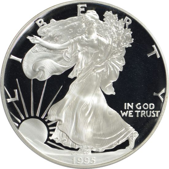 1995-W American Silver Eagle PCGS PR70DCAM - THE Key to the Proof Eagles!